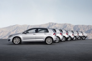 Seven generations of the Golf