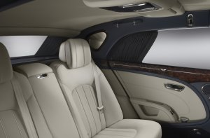 Mulsanne Rear Seats - with curtains!